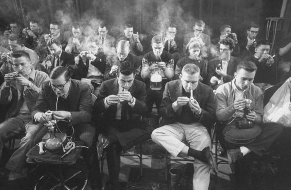 Classic Pipe Smoking Photographs